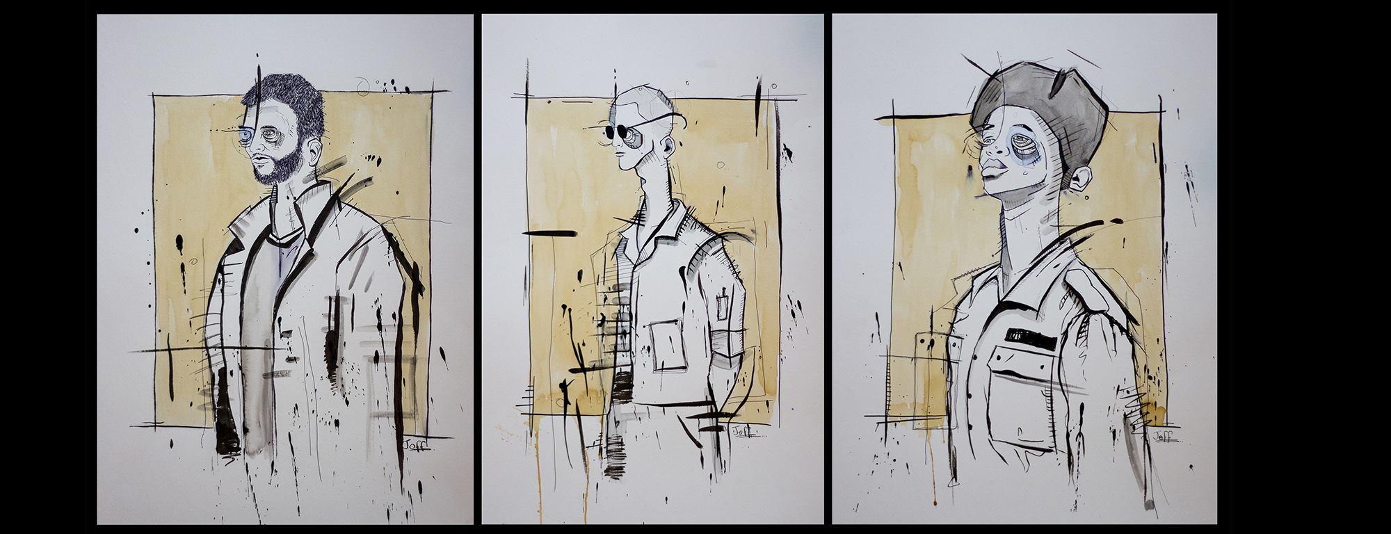 Portraits of Twenty Journey Men by Joff